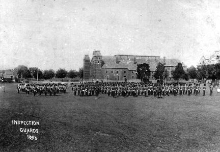 GFFG parade, summer 1896. Cartier Square Drill Hall in the background.
